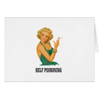 woman self poisoning card