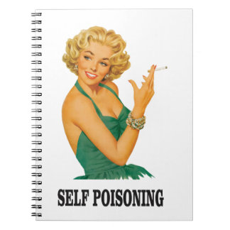 woman self poisoning spiral notebook