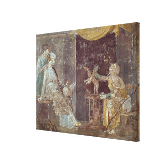 Woman selling Cupids, from Stabiae Canvas Print