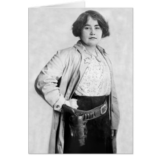 Woman Sheriff, early 1900s Card