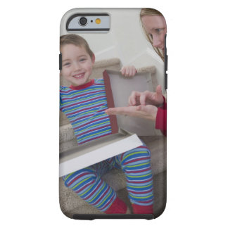 Woman signing the word 'Calculator' in American Tough iPhone 6 Case