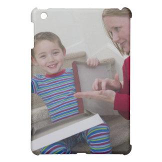 Woman signing the word 'Calculator' in American iPad Mini Case