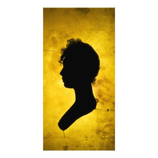 """""""Woman Silhouette on Gold"""" photo cards"""