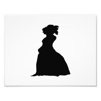 woman silhouette photo print