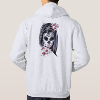 Woman skeleton mask hoodie