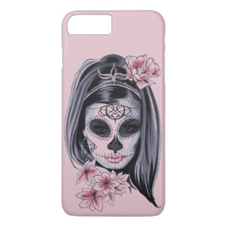 Woman skeleton mask iPhone 8 plus/7 plus case