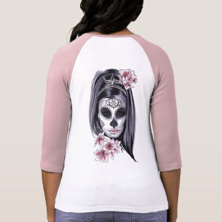 Woman skeleton mask T-Shirt