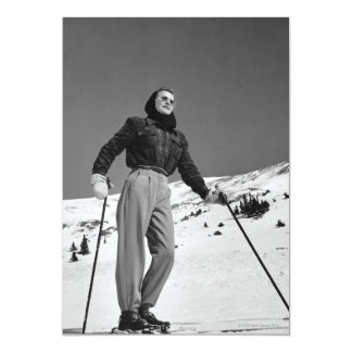 Woman Skier Card