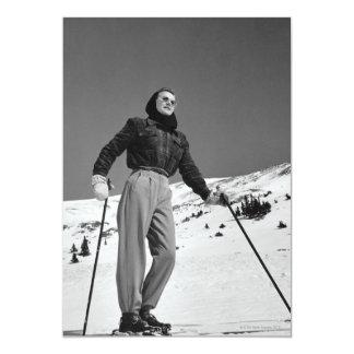 Woman Skier Custom Invite