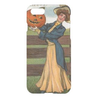Woman Smiling Jack O' Lantern Pumpkin Farm iPhone 7 Case