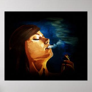 woman smoking poster