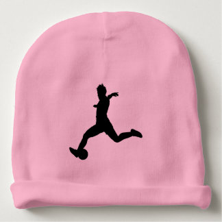 Woman Soccer Player Baby Beanie