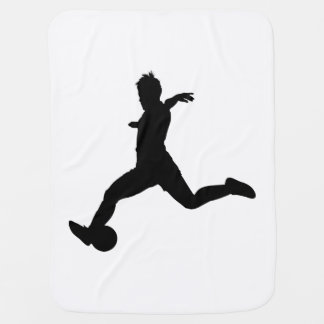 Woman Soccer Player Baby Blanket