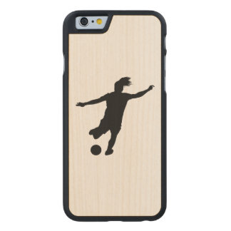 Woman Soccer Player Carved Maple iPhone 6 Case