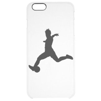 Woman Soccer Player Clear iPhone 6 Plus Case