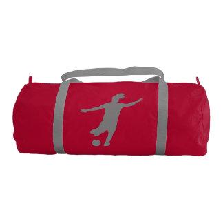 Woman Soccer Player Gym Bag