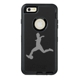 Woman Soccer Player OtterBox Defender iPhone Case