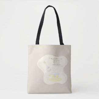 woman strong tote bag