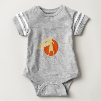 woman-superstar baby bodysuit