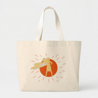woman-superstar large tote bag