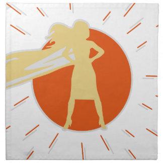 woman-superstar napkin