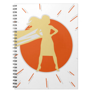 woman-superstar spiral notebook