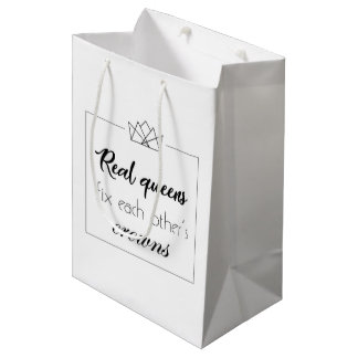 Woman supportive quote gift bag