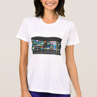 Woman Surfing the Web on Smartphone or Tablet T-Shirt