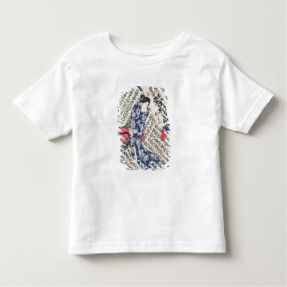 Woman surrounded by Calligraphy (colour woodblock T Shirts