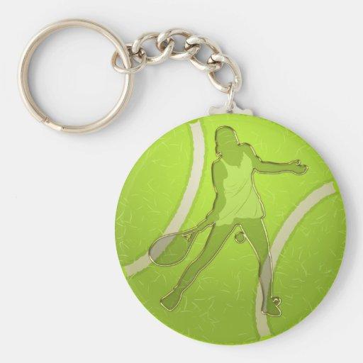 WOMAN TENNIS PLAYER DESIGN KEY CHAIN
