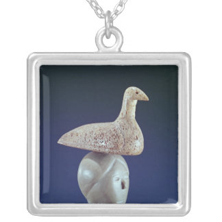Woman thinking of a Loon bird, from Cape Dorset Custom Necklace
