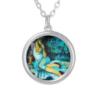 Woman Thinking, The Blue Period Art Necklace