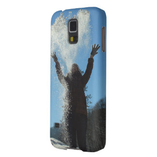 Woman throwing snow galaxy s5 cover