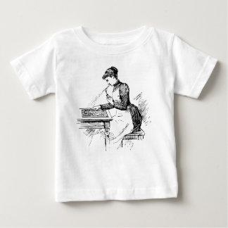 Woman Using Old Airbrush Baby T-Shirt