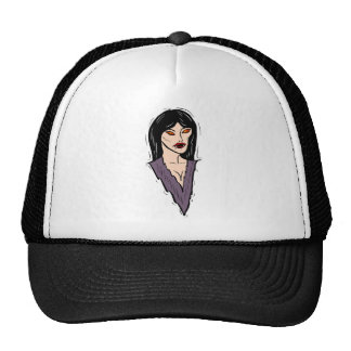 Woman Vampire Mesh Hat