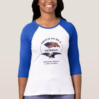 Woman Veteran American Pride Eagle and Flag T-Shirt