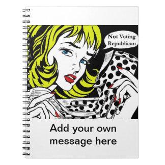 Woman Voting For Barack Obama  Design Notebook