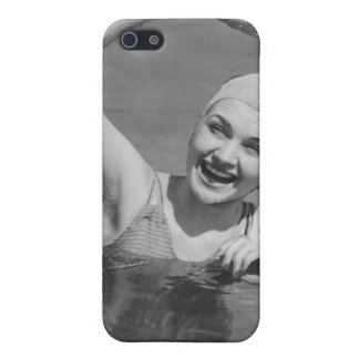 Woman Waving iPhone 5 Covers
