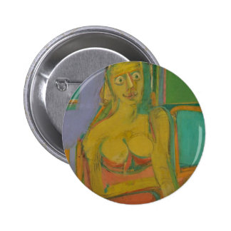 woman William De Koonig 6 Cm Round Badge