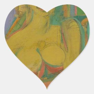 woman William De Koonig Heart Sticker