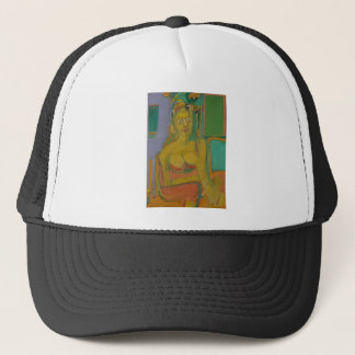 woman William De Koonig Trucker Hat