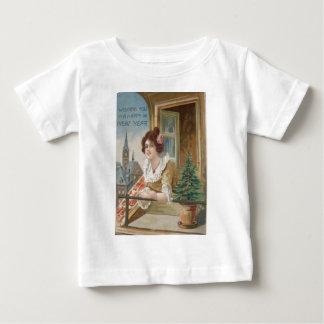 Woman Window Church Christmas Tree Baby T-Shirt