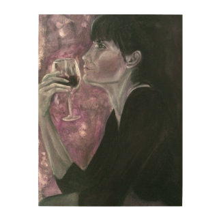 Woman & Wine Wood Wall Art Wood Prints
