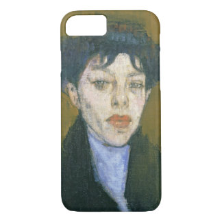 Woman with a Blue Scarf, c.1912 (oil on canvas) iPhone 7 Case