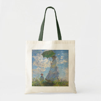 Woman with a Parasol, 1875 (oil on canvas) Budget Tote Bag