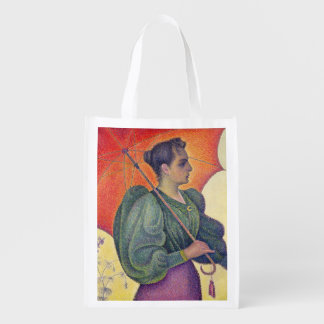 Woman with a Parasol, 1893 Reusable Grocery Bag