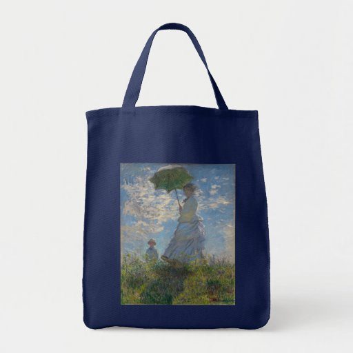 Woman with a Parasol by Claude Monet Bag