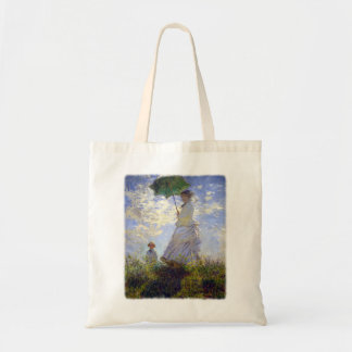 Woman with a Parasol by Claude Monet Budget Tote Bag