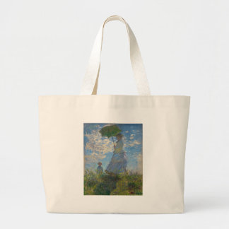 Woman with a Parasol by Claude Monet Jumbo Tote Bag