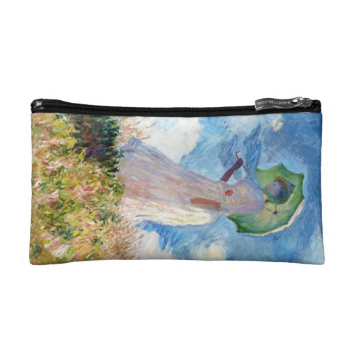 Woman with a Parasol  Claude Monet Cosmetics Bags